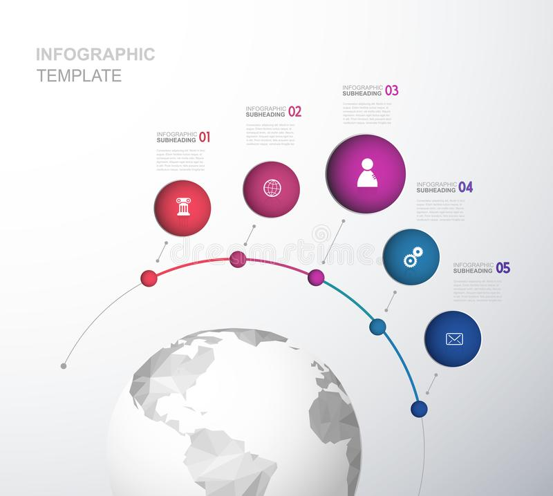 Infographic startup milestones time line vector template. Vector art vector illustration