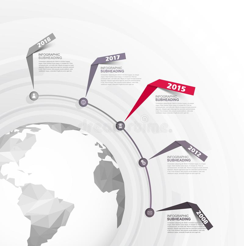 Infographic startup milestones time line vector template. Vector art stock illustration