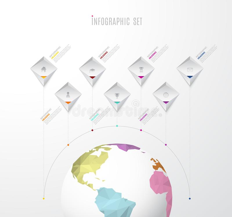 Infographic startup milestones time line vector template. Vector art vector illustration