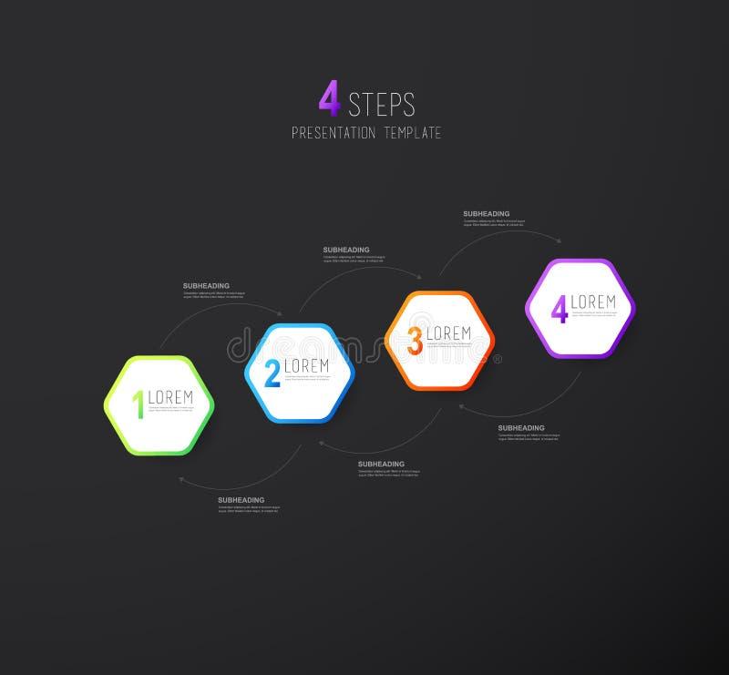 Infographic startup milestones timeline vector template. Vector art royalty free illustration