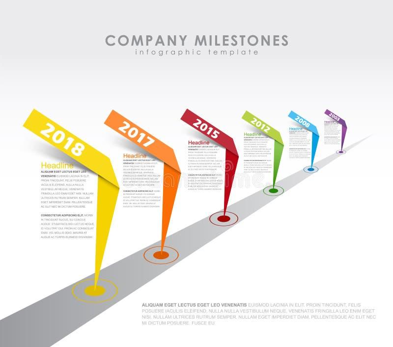 Infographic startup milestones timeline vector template. Vector art vector illustration