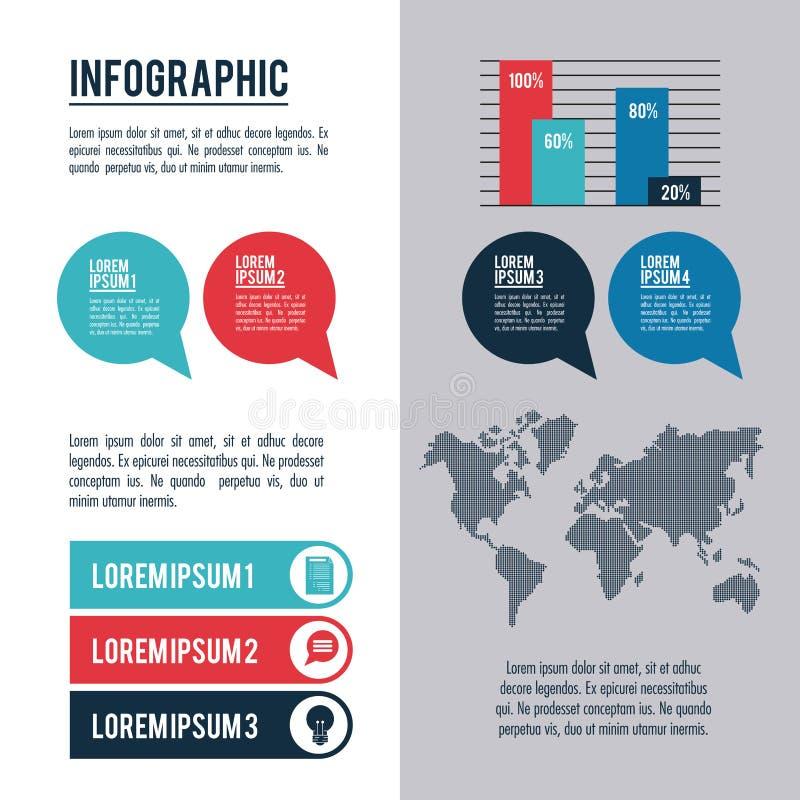 Infographic stilar och organisation stock illustrationer