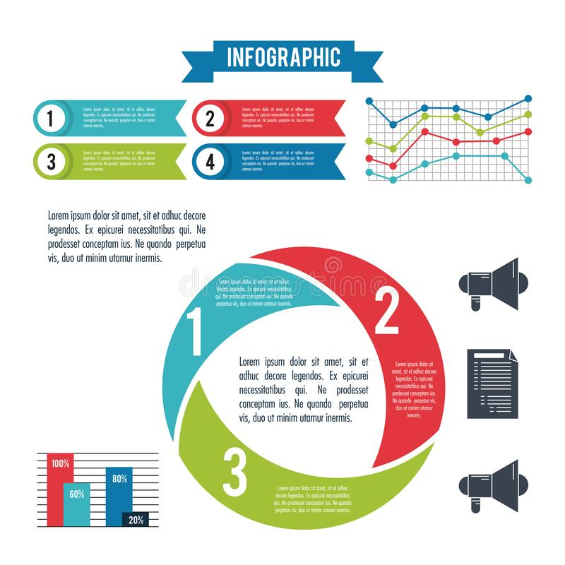 Infographic stilar och organisation royaltyfri illustrationer