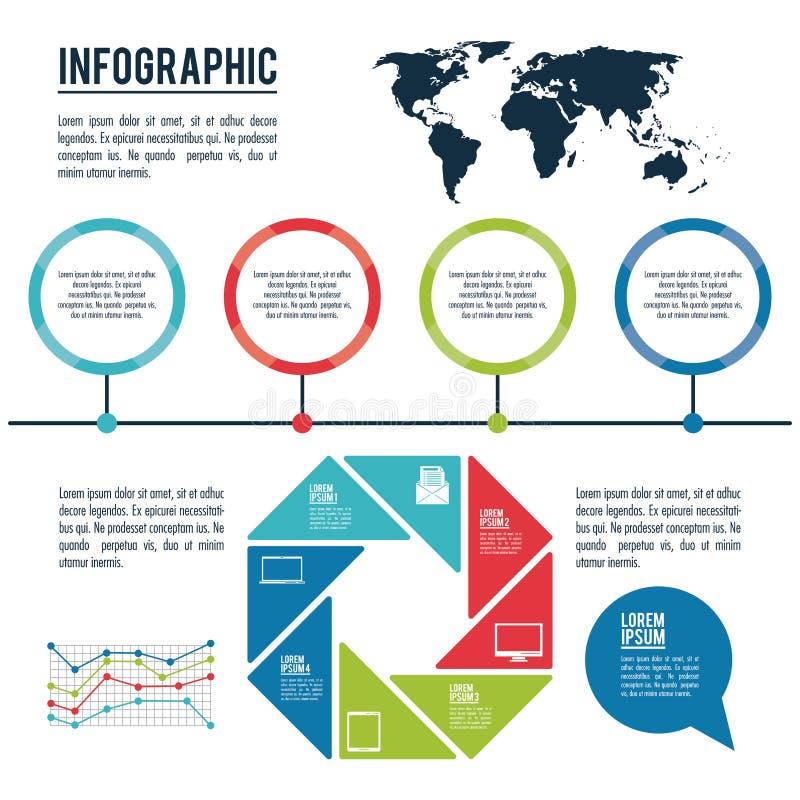 Infographic stilar och organisation vektor illustrationer