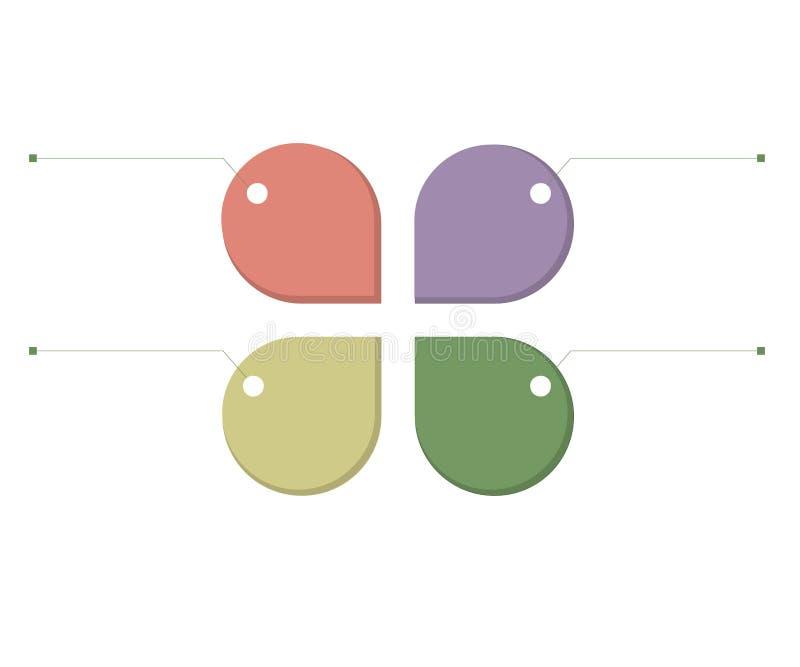 Infographic szablon dla biznesu, edukacja, sieć projekt, sztandary, broszurki, ulotki, diagram, obieg, linia czasu Wektorowy illu ilustracja wektor