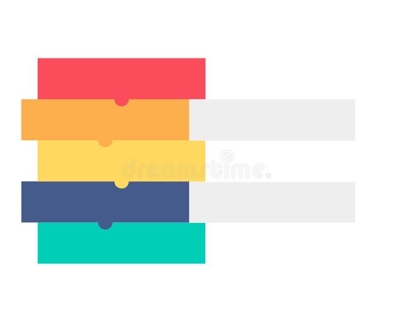 Infographic szablon dla biznesu, edukacja, sieć projekt, sztandary, broszurki, ulotki, diagram, obieg, linia czasu Wektorowy illu royalty ilustracja