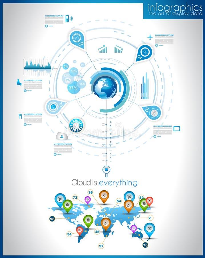 Infographic szablon dla statystycznego dane visualizat ilustracji