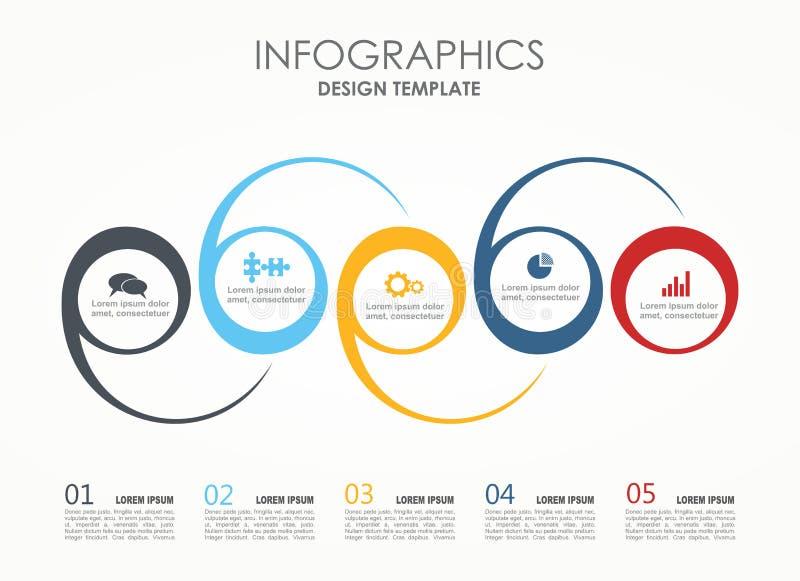 Infographic Szablon również zwrócić corel ilustracji wektora Może używać dla obieg układu, diagram, biznesowe krok opcje, sztanda ilustracji