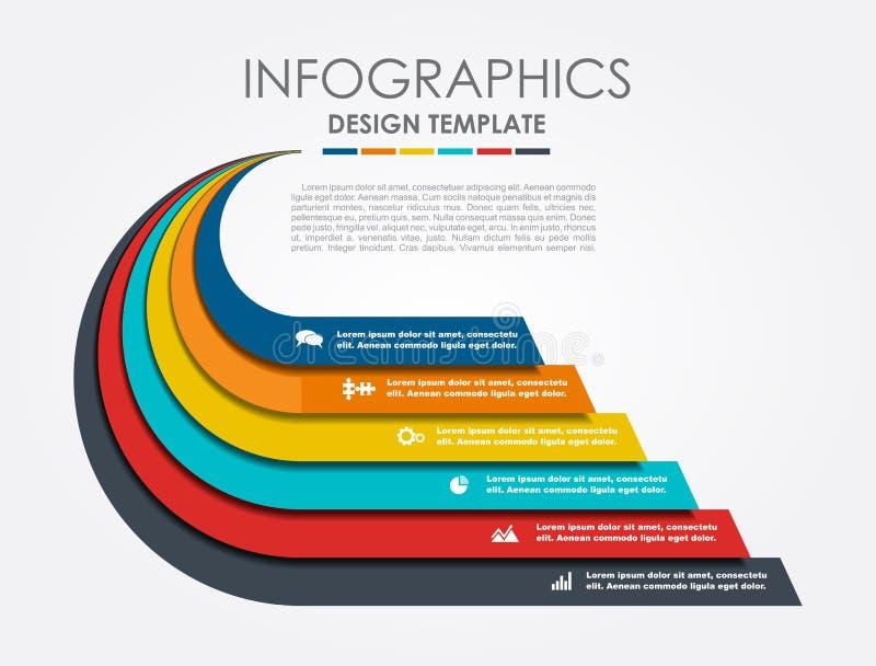 Infographic Szablon również zwrócić corel ilustracji wektora Może używać dla obieg układu, diagram, biznesowe krok opcje, sztanda ilustracja wektor