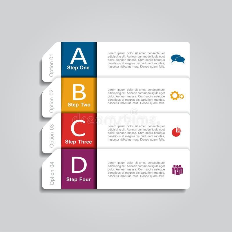 Infographic Szablon również zwrócić corel ilustracji wektora Może używać dla obieg układu, diagram, biznesowe krok opcje, sztanda royalty ilustracja