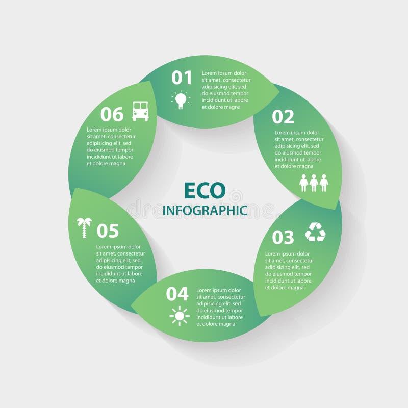 Infographic tecken för runda för cirkel för vektorgräsplansidor royaltyfri illustrationer