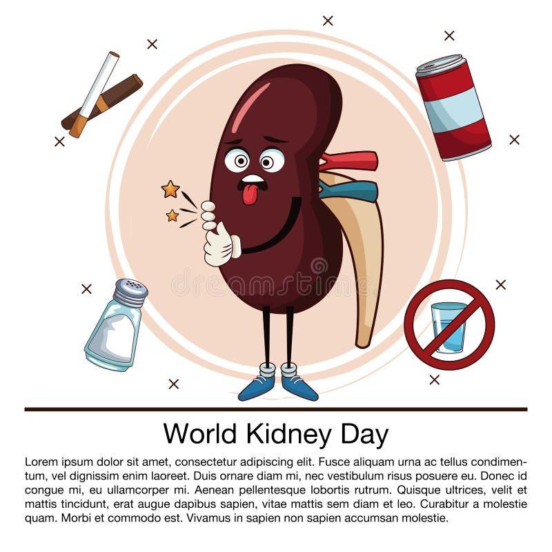 Infographic tecknad film för världsnjuredag stock illustrationer