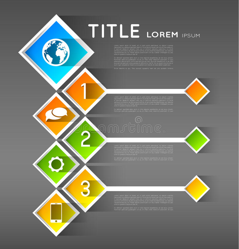 Download Infographic Template Banners, Squares Royalty Free Stock Photo - Image: 38369555