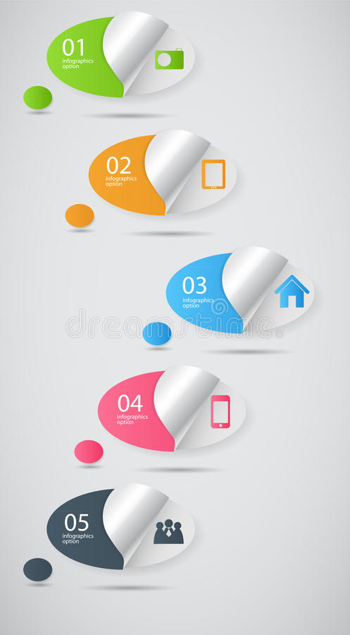 Infographic Template Business Vector Illustration Royalty Free Stock Images