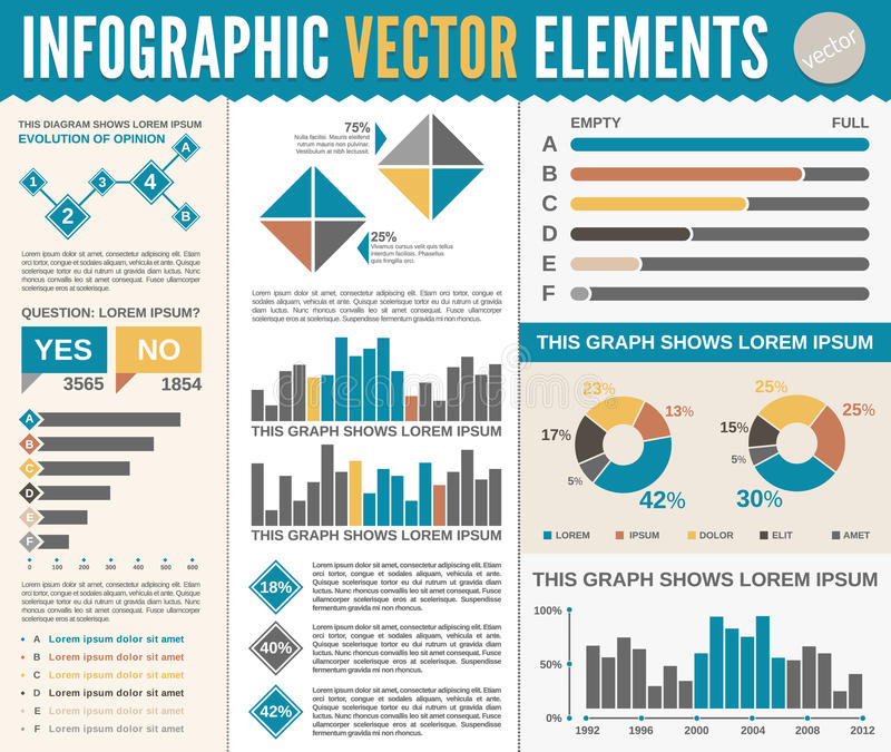 Infographic Template stock illustration