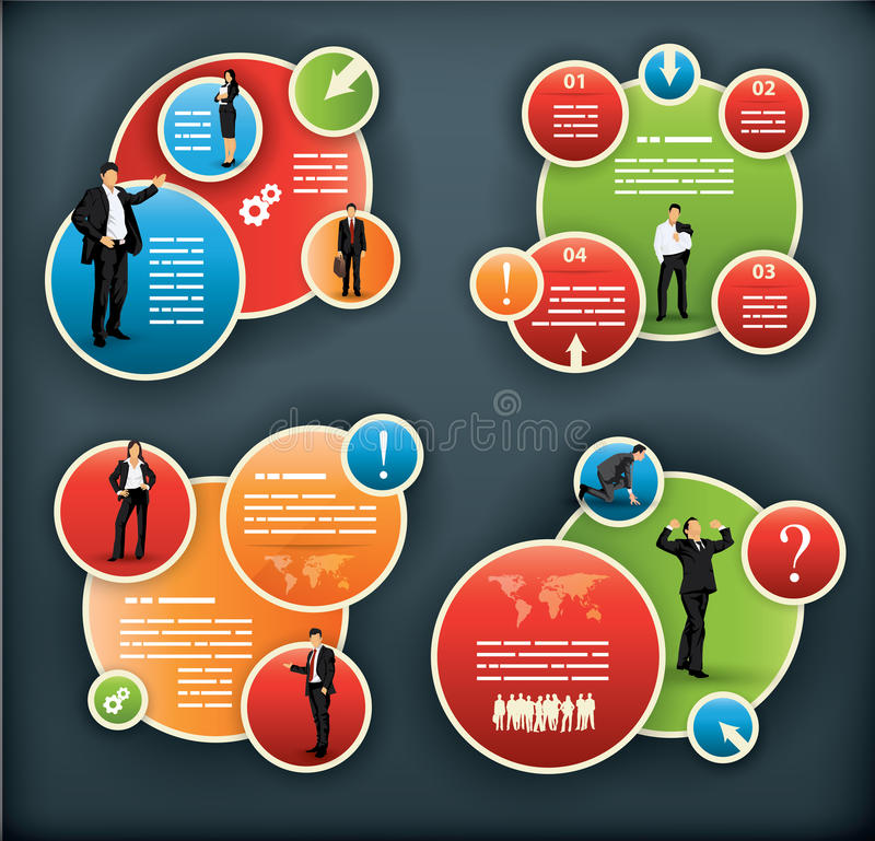 An infographic template for corporate and business stock illustration