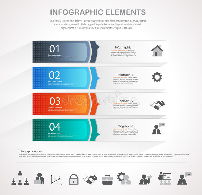 Infographic template design royalty free illustration