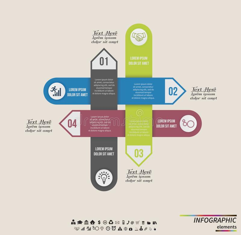 Infographic template . Design concept for. Infographic template . Design for presentation or diagram. Concept for 4 steps, parts or options. Vector EPS10 vector illustration