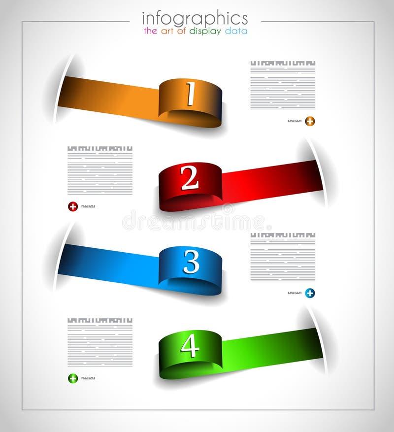 Infographic template design - Original geometrics royalty free illustration