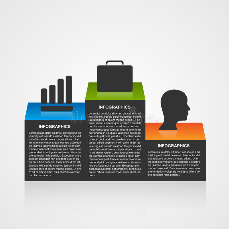 Infographic template with olympic podium. stock illustration
