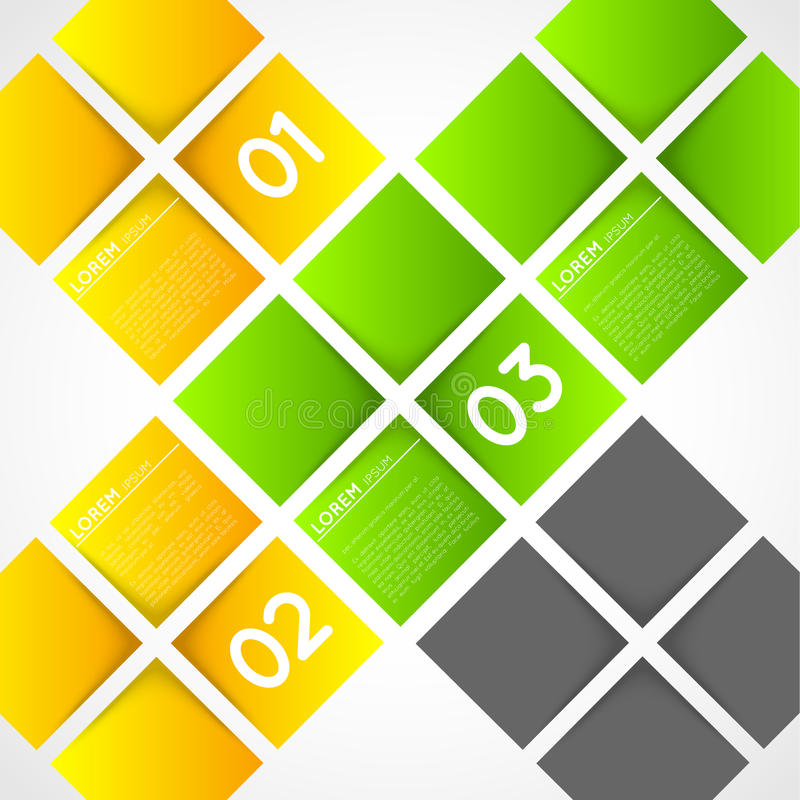 Download Infographic Template Squares, Options Stock Image - Image: 36665331