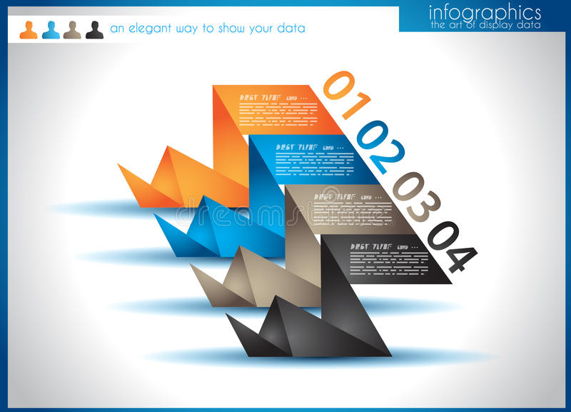 Download Infographic Template For Statistic Data Visualizat Stock Illustration - Illustration: 29884145