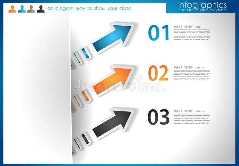 Infographic template for statistic data visualization.
