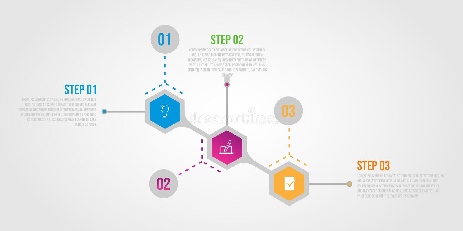 Infographic template with 4 steps workflow design illustration. Infographic template with 3 steps workflow design business marketing logo vector illustration vector illustration