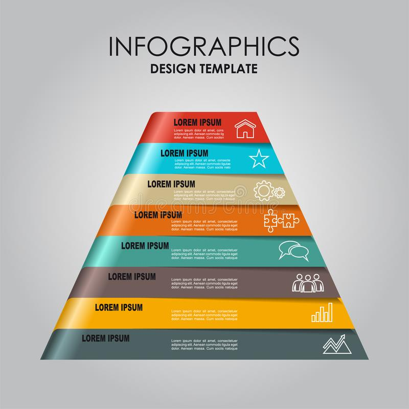 Infographic template. Can be used for workflow layout, diagram, business step options, banner, web design. Infographic template. Vector illustration. Can be vector illustration