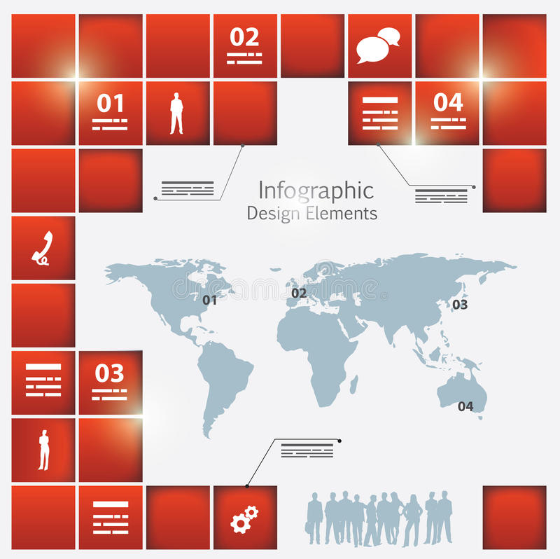 Download An Infographic Template Of The World Stock Vector - Image: 29407931