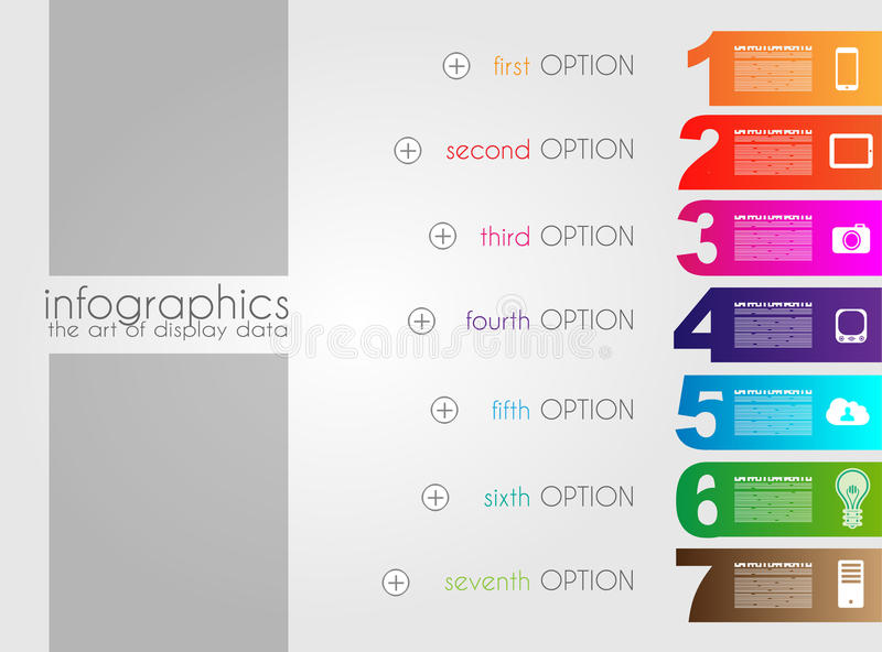 Infographic Templated With Paper Number Shapes Stock Illustration ...