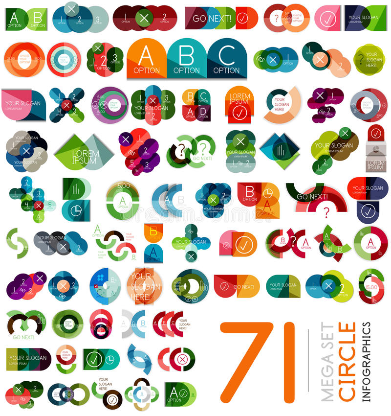 Free Infographic Templates Set - Circle Shaped Stock Photos - 38427763