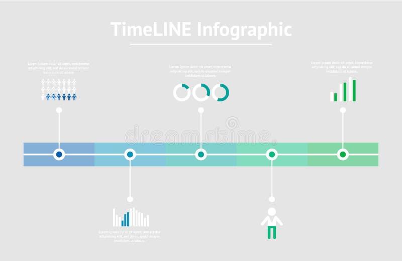 Infographic tijdlijn Vector illustratie royalty-vrije illustratie