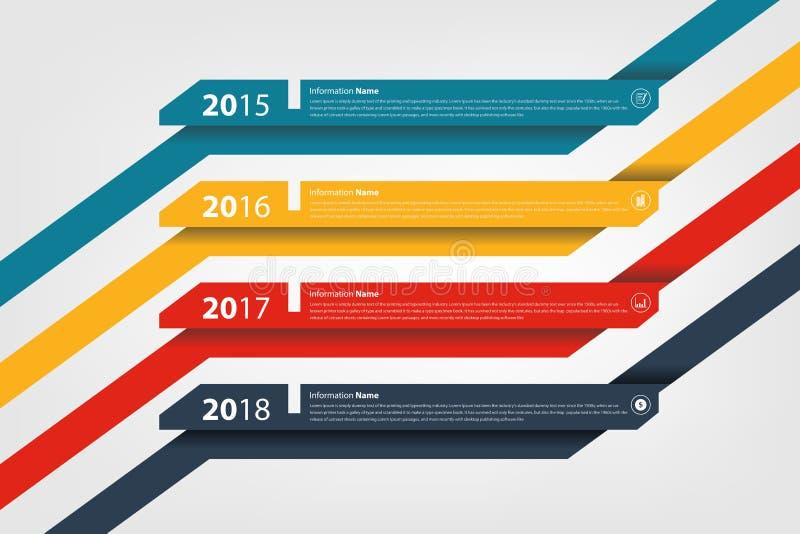 Infographic timeline- & milstolpeföretagshistoria royaltyfri illustrationer