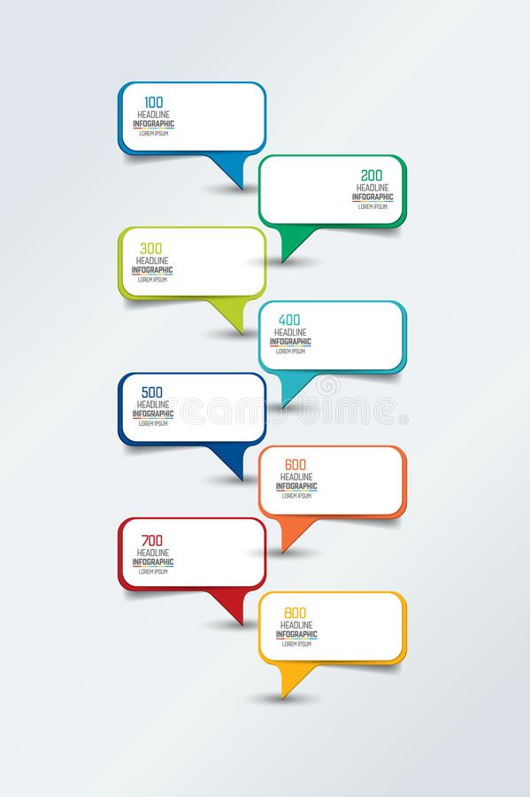Infographic timeline report, template, chart, scheme. Infographic timeline report, template, chart or scheme. Empty text fields. Vector royalty free illustration