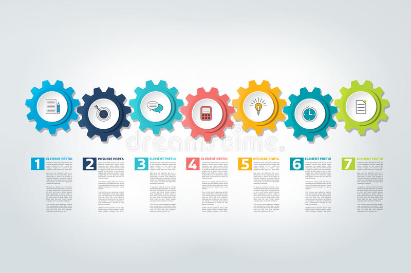 Infographic timeline report, template, chart, scheme. Infographic timeline report, template, chart or scheme. Vector stock illustration