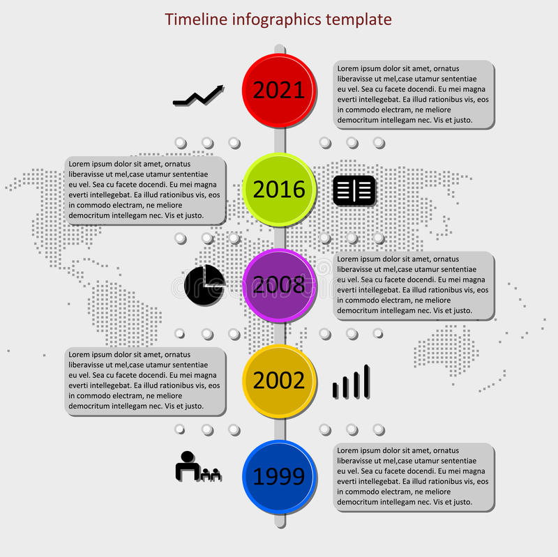 Infographic Timeline Vector Stock Vector  Illustration Of Chart