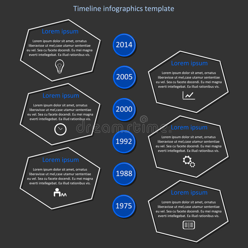 Infographic timeline vector. stock image