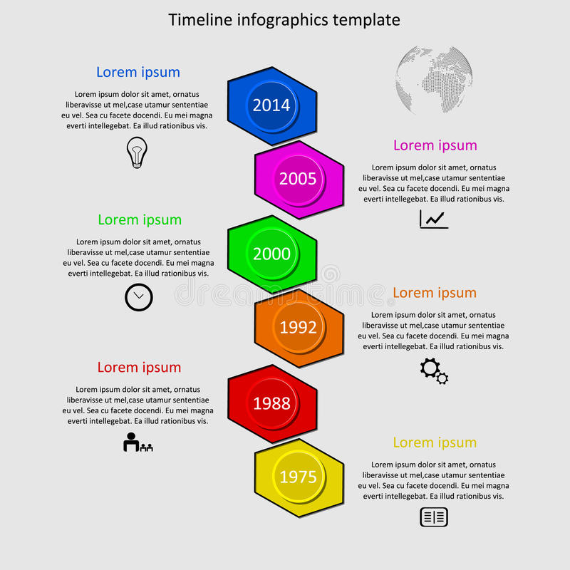 Infographic timeline vector. stock photography
