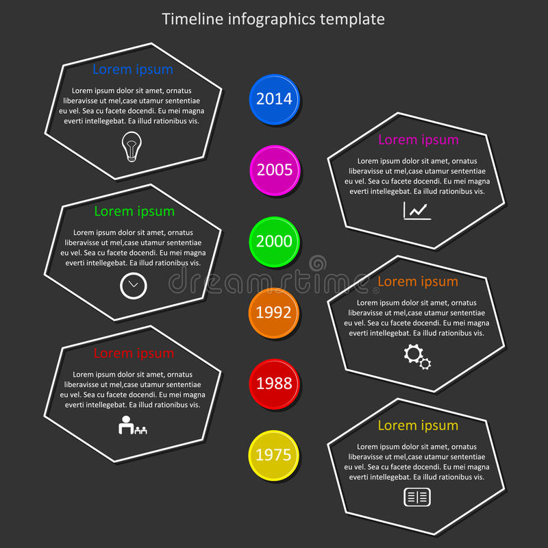 Infographic timeline vector. royalty free stock photography