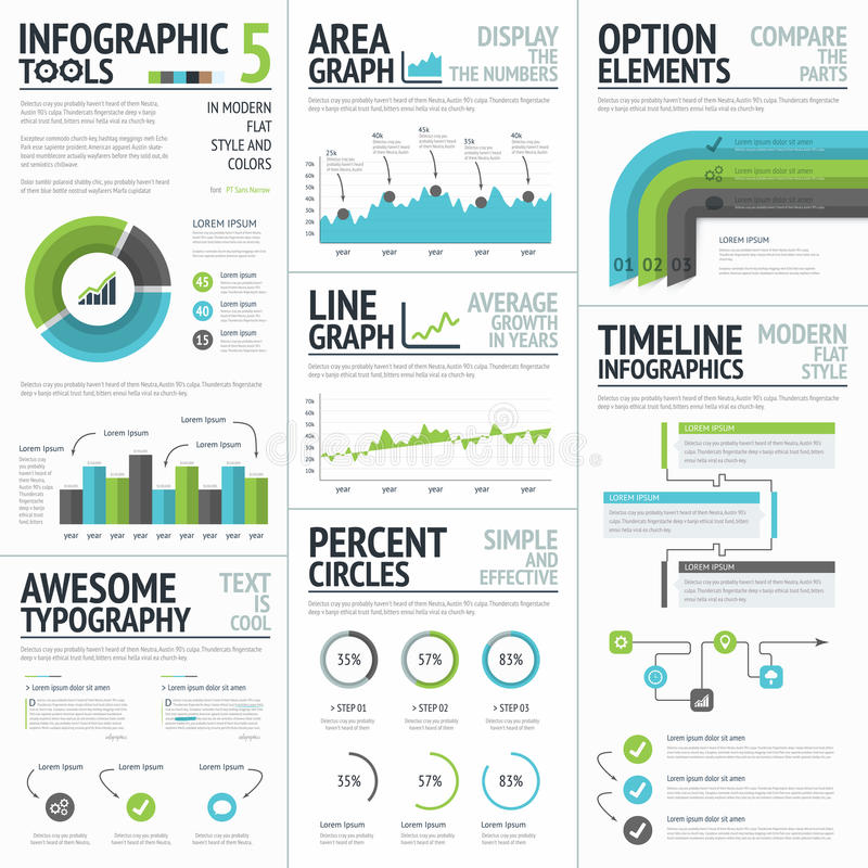 Free Infographic Tools And Elements To Create Vector Infographics Royalty Free Stock Photos - 44426708