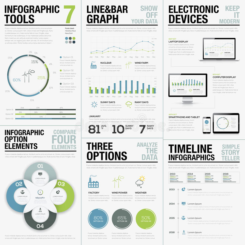 Infographic Tools 7 - Business Vector Elements for Infographics vector illustration