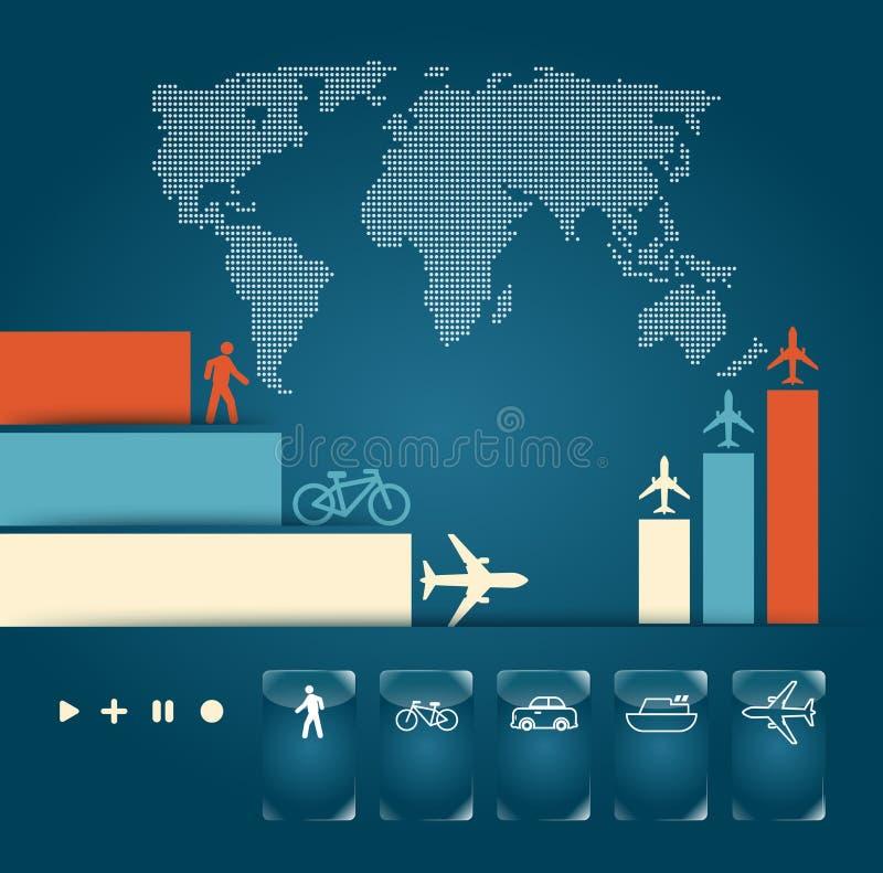Infographic trafikerar vektor illustrationer
