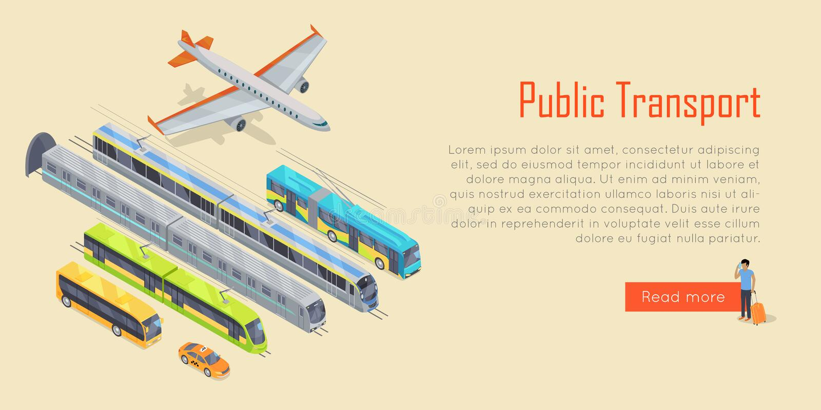 Infographic transport offentlig transport vektor royaltyfri illustrationer
