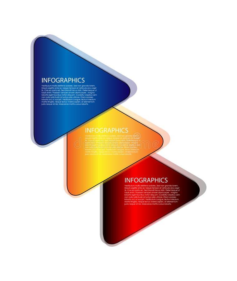 Infographic triangel royaltyfri illustrationer