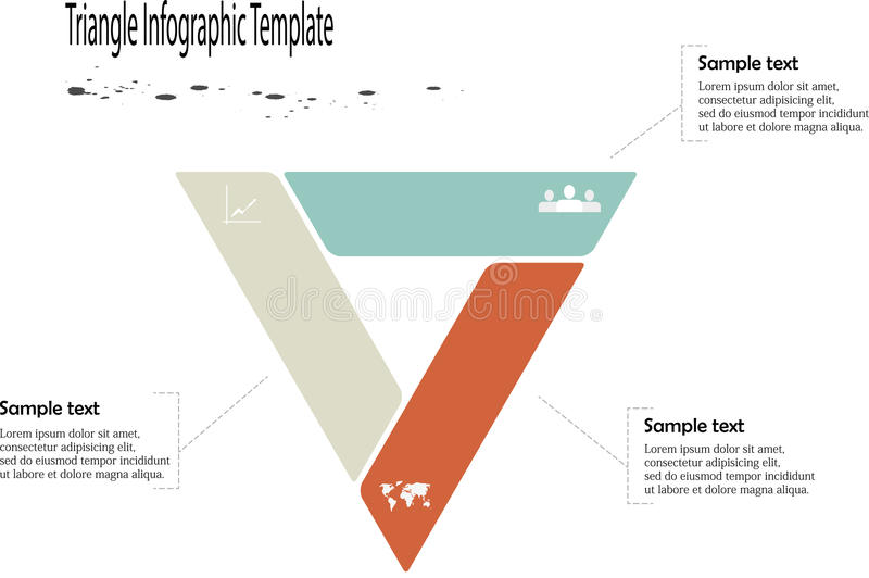 Infographic with triangle shape vector illustration