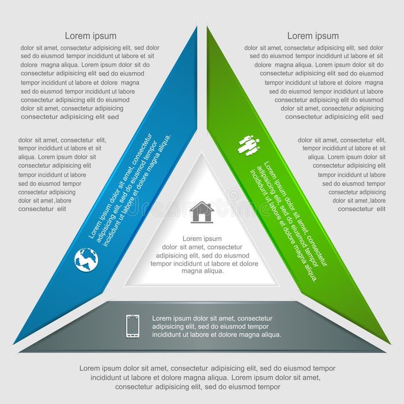 Infographic triangolare royalty illustrazione gratis