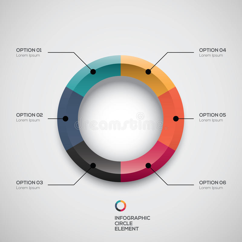 Infographic ui styled business pie chart and vector options royalty free illustration
