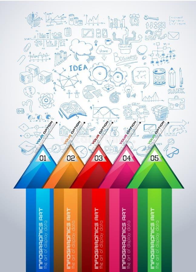 Infographic układ dla Brainstorming pojęcia tło z wykresami ilustracja wektor