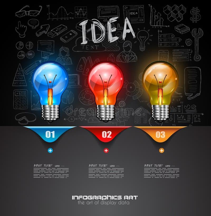Infographic układ dla Brainstorming pojęcia tło z wykresami ilustracji